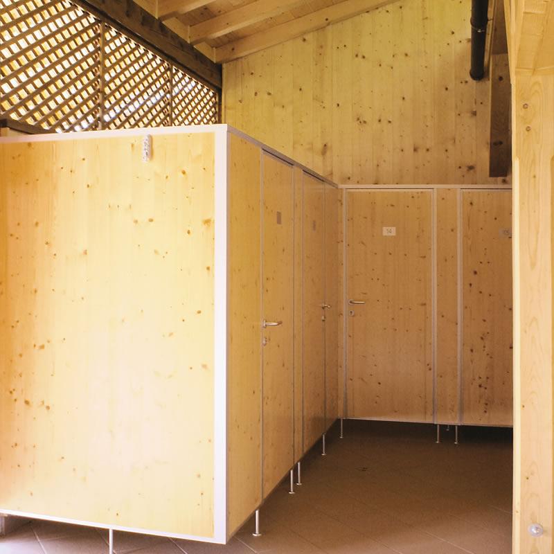 WC- und Sanitärtrennwände für Trocken und Nassräume, Kindergärten ...